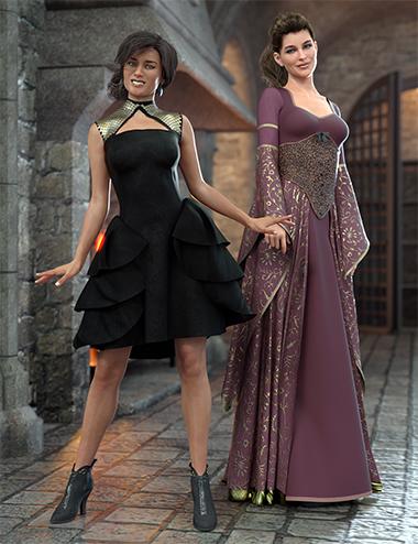 Universal Dress: Fyre by: Moonscape GraphicsSade, 3D Models by Daz 3D