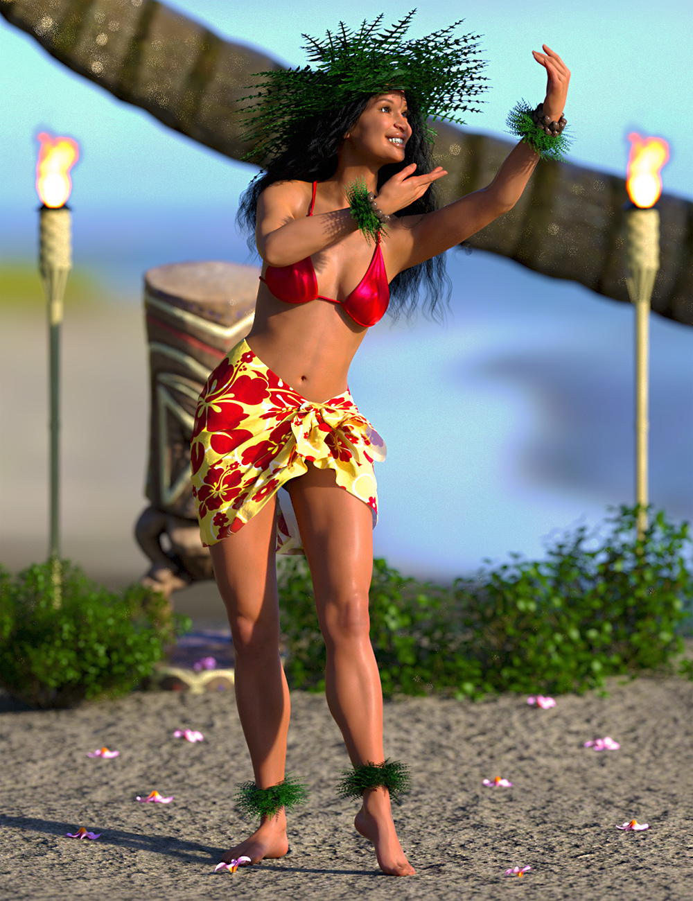 IGD Mea Hula Poses for Genesis 8 Female by: Islandgirl, 3D Models by Daz 3D