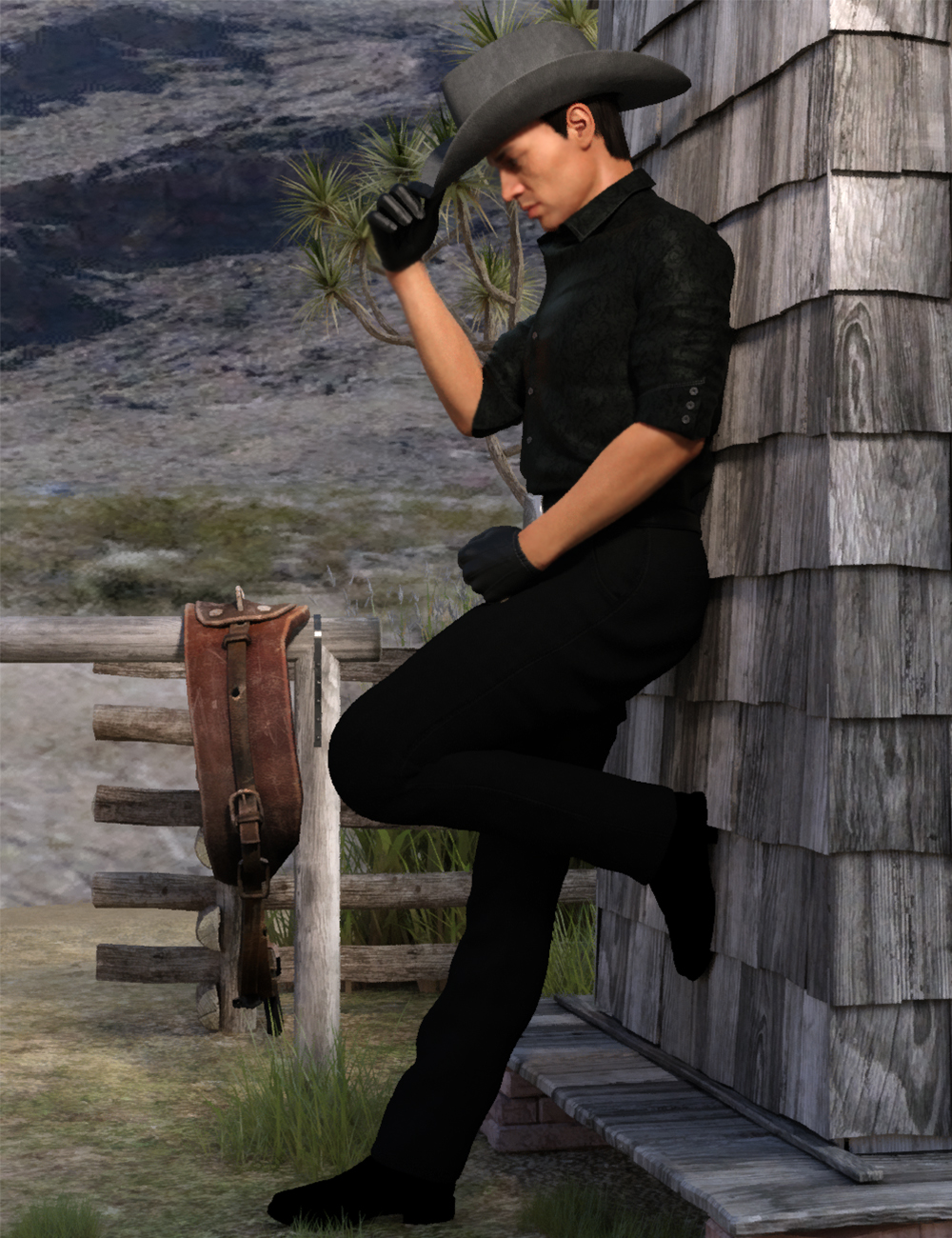 Cow Boy Poses For Genesis 8 Male by: Ensary, 3D Models by Daz 3D