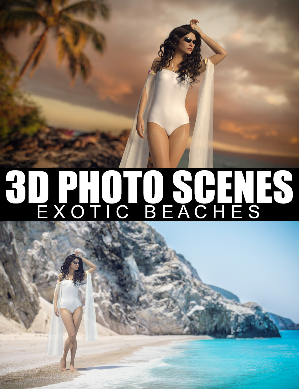 3D Photo Scenes - Exotic Beaches by: Dreamlight, 3D Models by Daz 3D