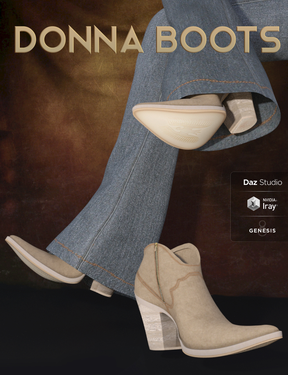 Donna Boots for Genesis 8 Female(s) by: 3DStyle, 3D Models by Daz 3D