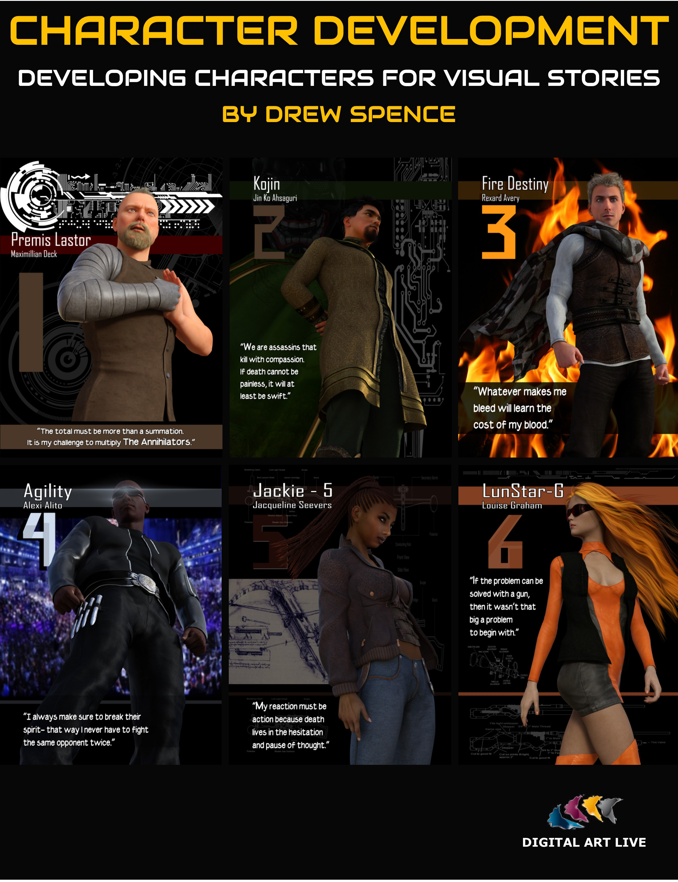 Character Development for Visual Stories by: Digital Art Live, 3D Models by Daz 3D