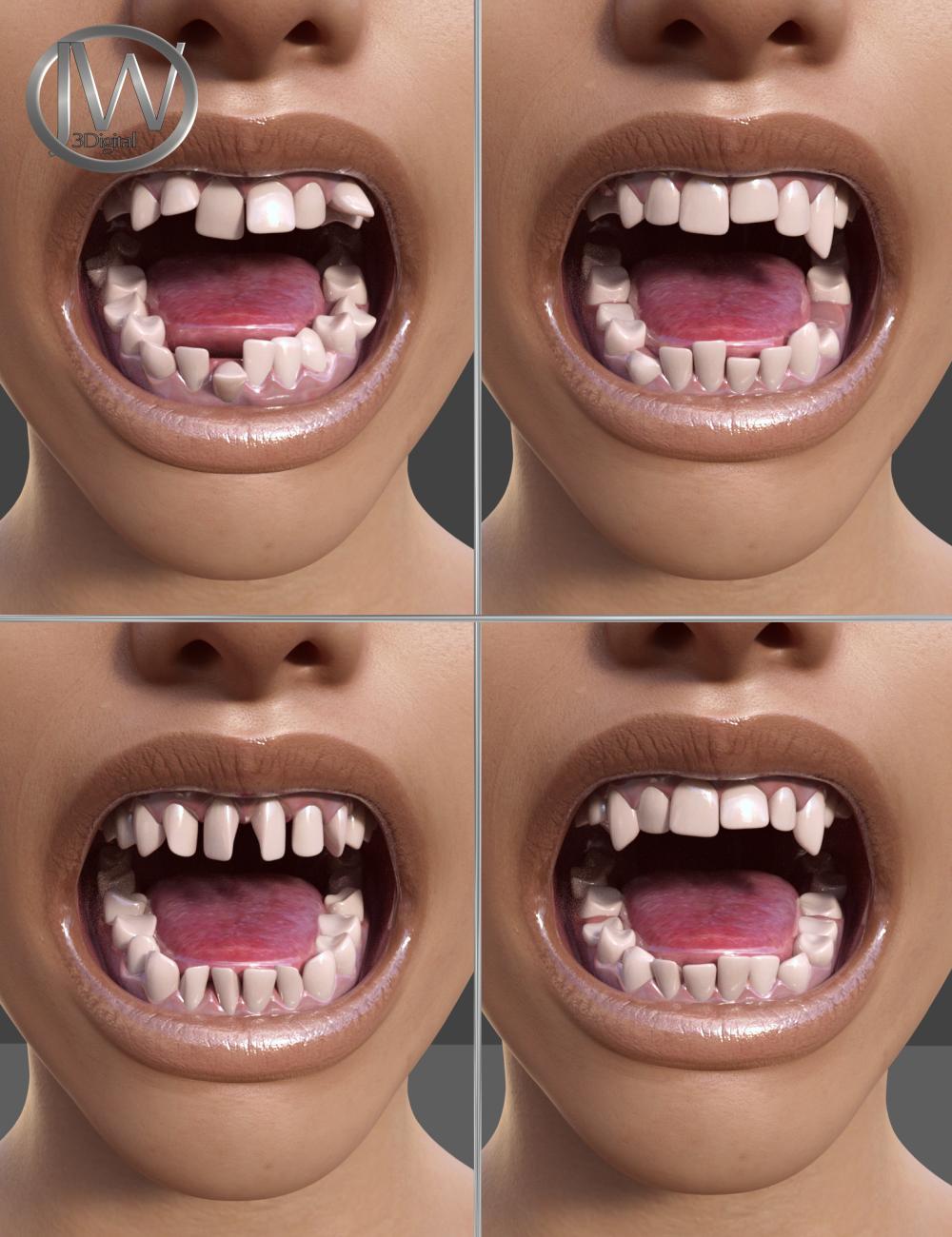 Teeth Master Control for Genesis 8 Female by: JWolf, 3D Models by Daz 3D