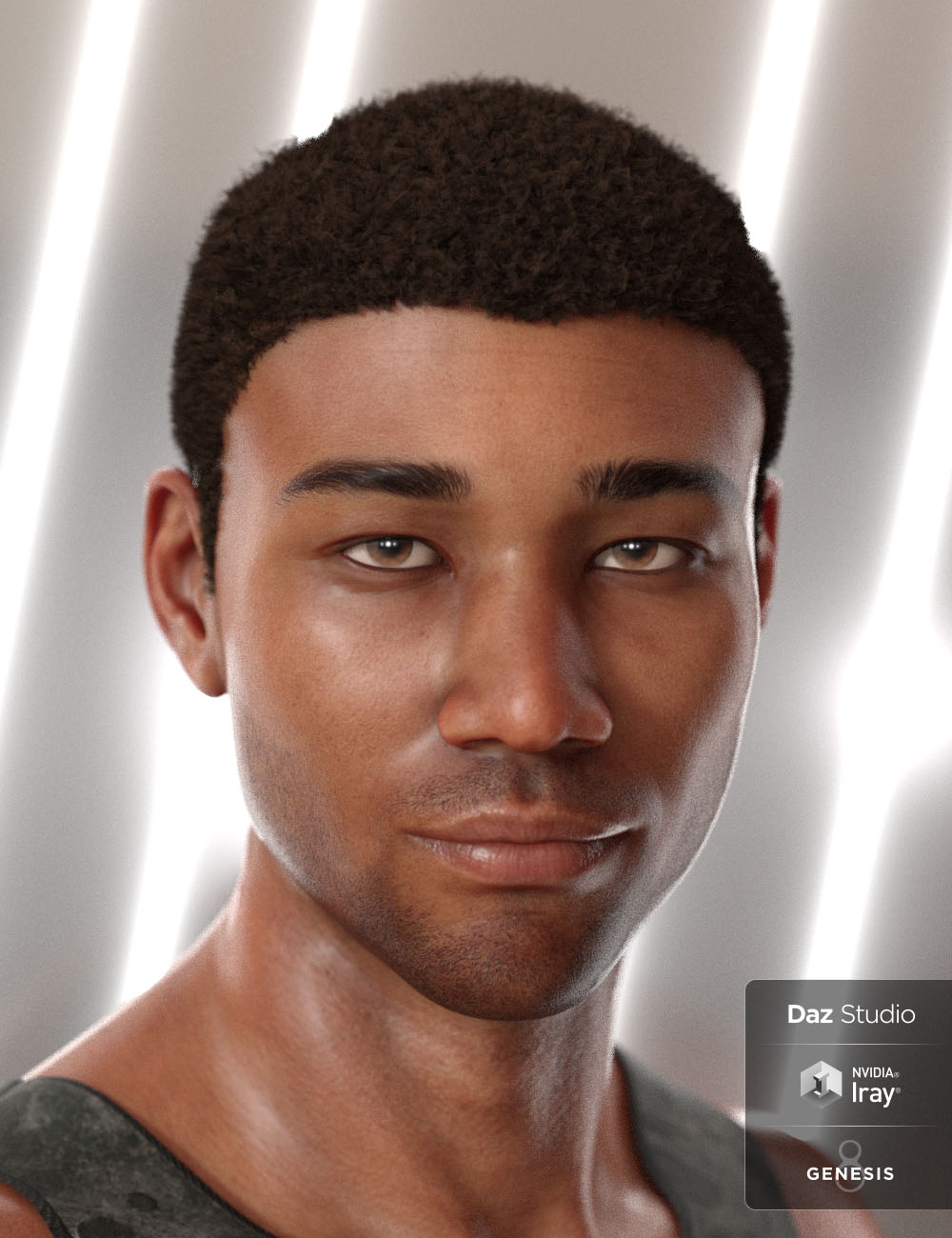 Malik Hair for Genesis 8 and Genesis 3 Male(s) by: 3DCelebrity, 3D Models by Daz 3D