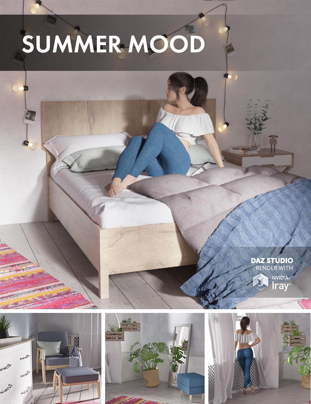 Summer Mood Bedroom by: Dimidrol, 3D Models by Daz 3D