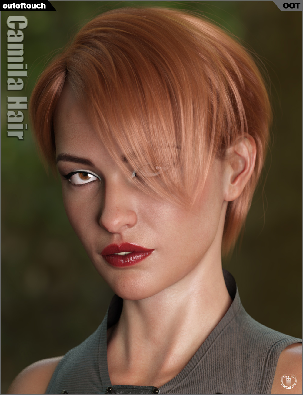 Camila Hair for Genesis 3 and 8 Female(s) by: outoftouch, 3D Models by Daz 3D