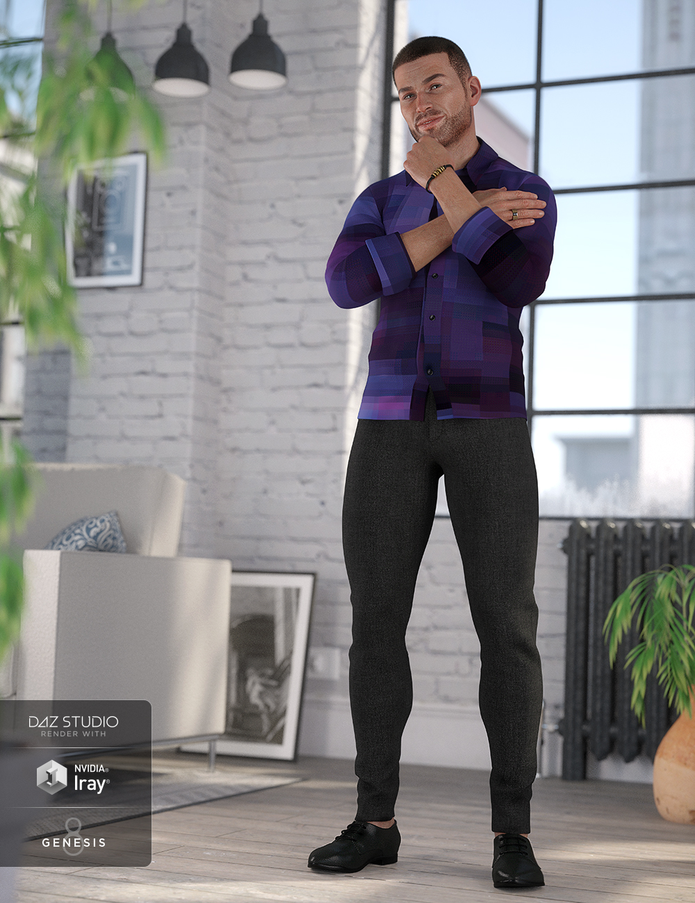 Smart and Suave Outfit for Genesis 8 Male(s) by: Anna BenjaminLyrra Madril, 3D Models by Daz 3D