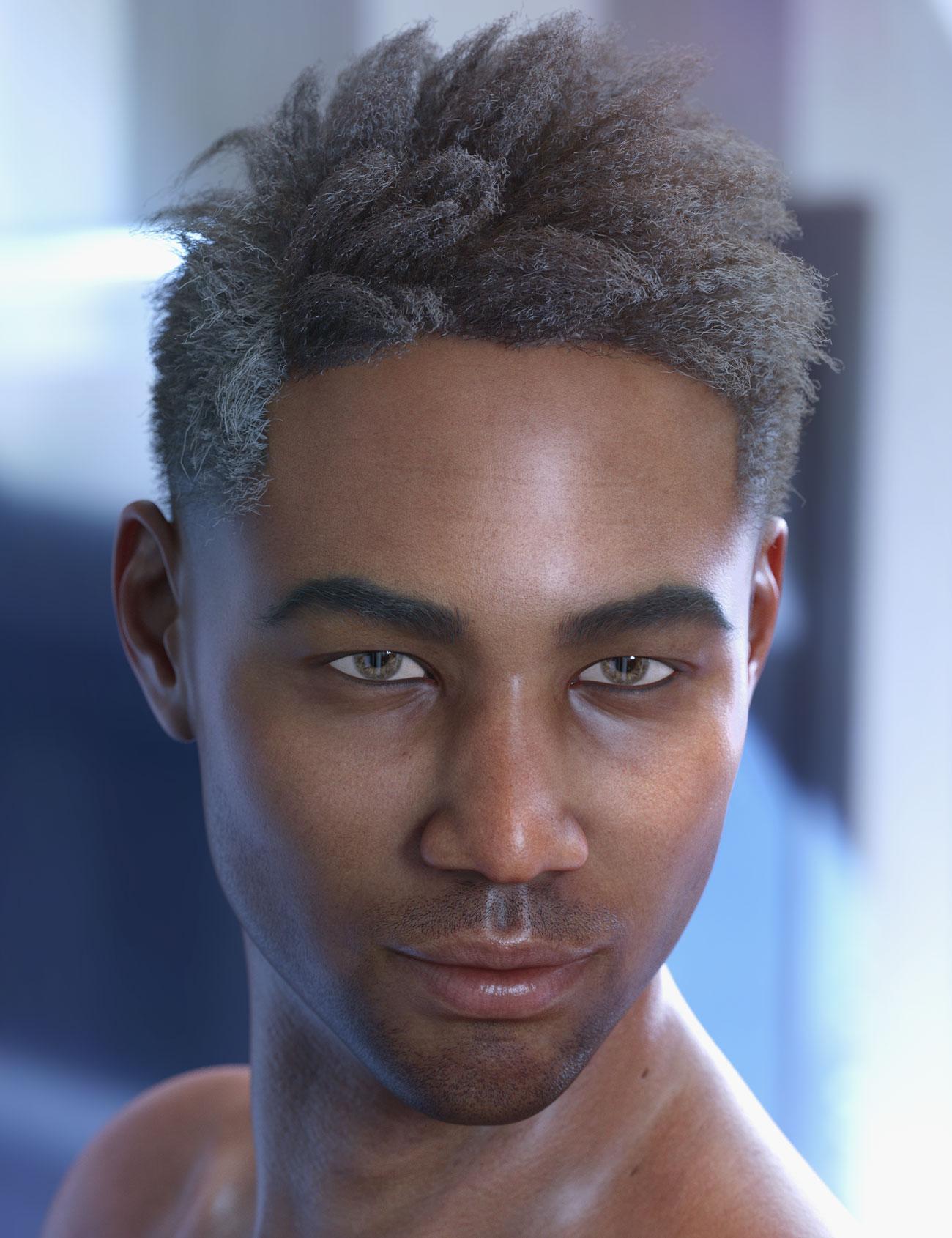 dForce Saul Hair for Genesis 8 by: AprilYSH, 3D Models by Daz 3D