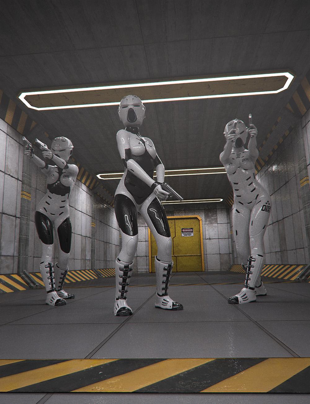 Sci-Fi Corridor Level 51 by: , 3D Models by Daz 3D