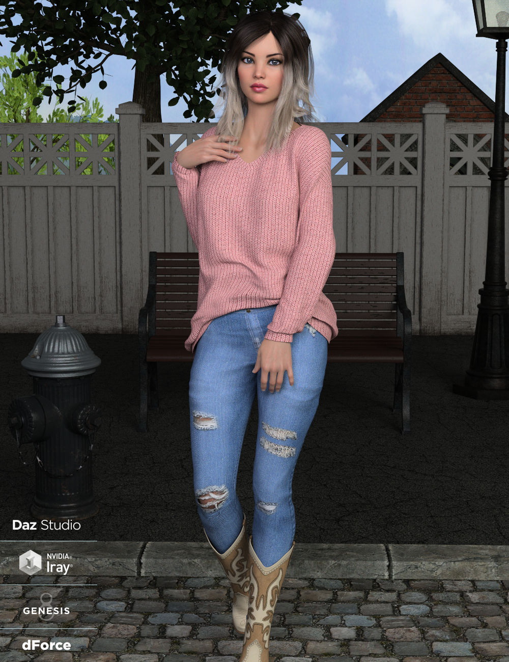 dForce Nora Outfit for Genesis 8 Female(s) by: WildDesigns, 3D Models by Daz 3D