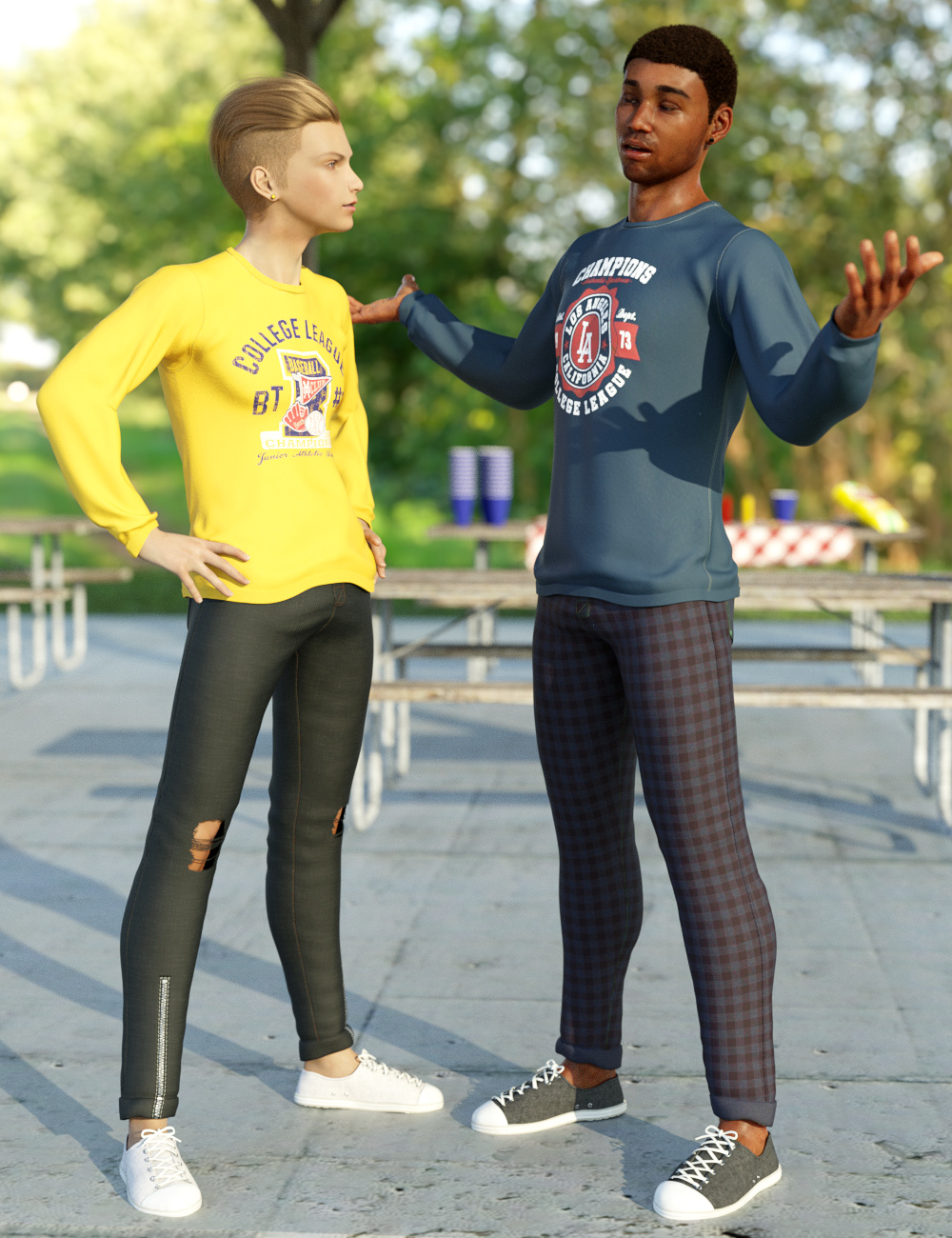 dForce Back To Class Outfit Textures by: Moonscape GraphicsSade, 3D Models by Daz 3D