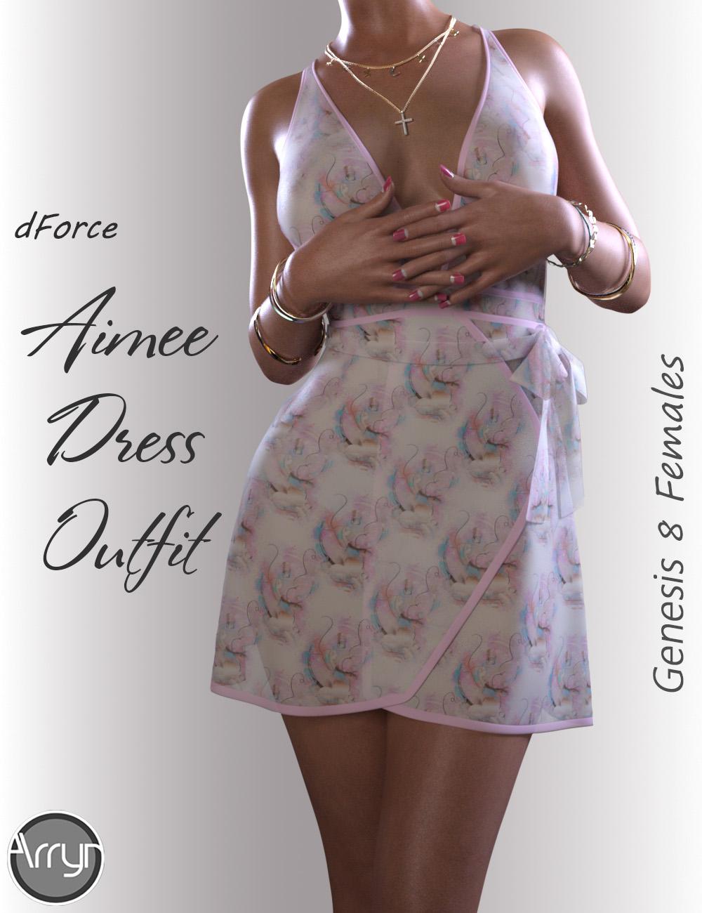 dForce Aimee Candy Dress for Genesis 8 Female(s) by: OnnelArryn, 3D Models by Daz 3D