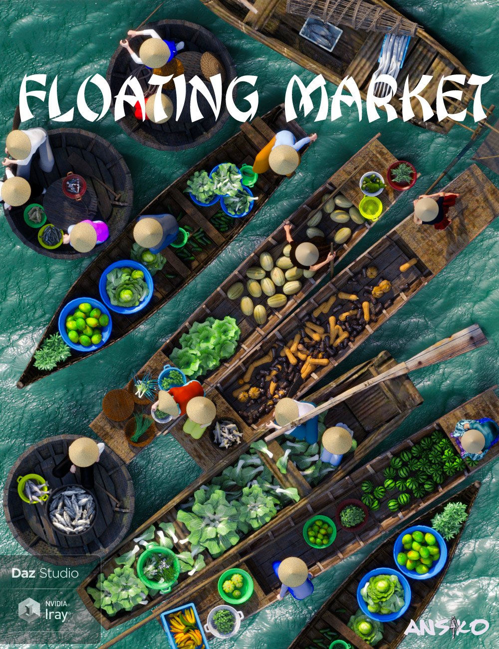 Floating Market by: Ansiko, 3D Models by Daz 3D