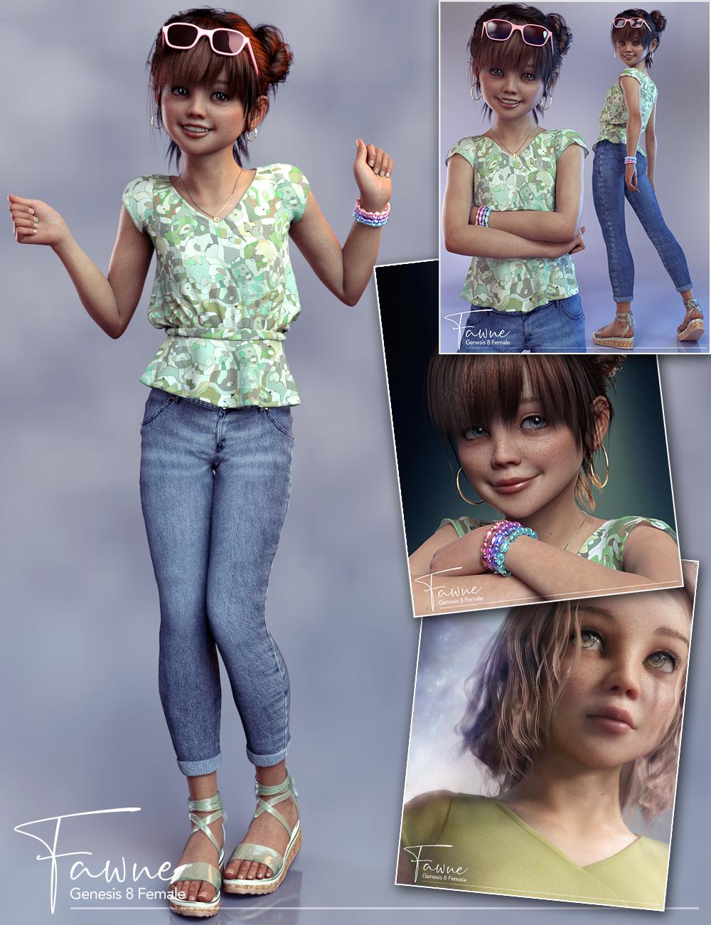 Fawne Bundle for Genesis 8 Female(s) by: 3D Universe, 3D Models by Daz 3D