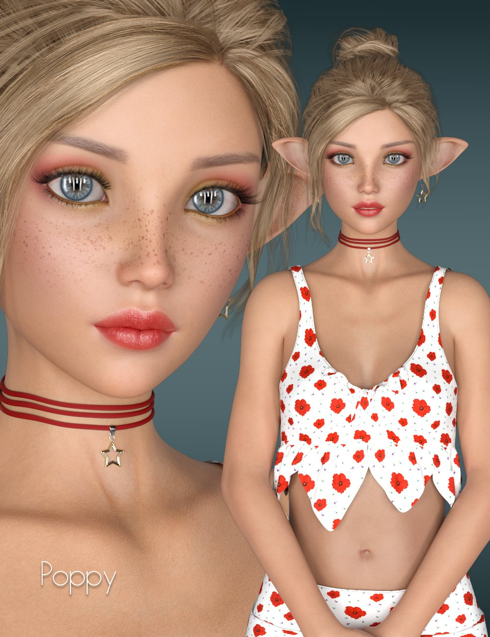 P3D Poppy for Kanade 8 by: P3Design, 3D Models by Daz 3D
