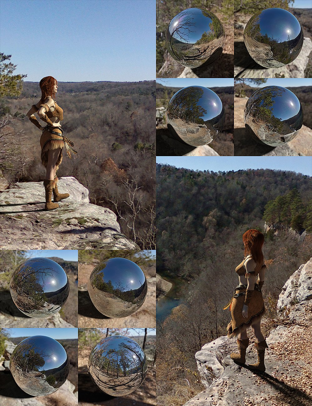 Orestes Iray HDRI Environments - High Bluff Overlook by: Orestes Graphics, 3D Models by Daz 3D