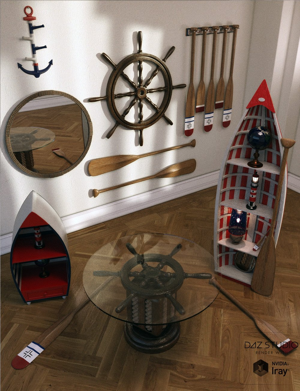 Nautical Whimsey Vol 1 by: David BrinnenForbiddenWhispers, 3D Models by Daz 3D