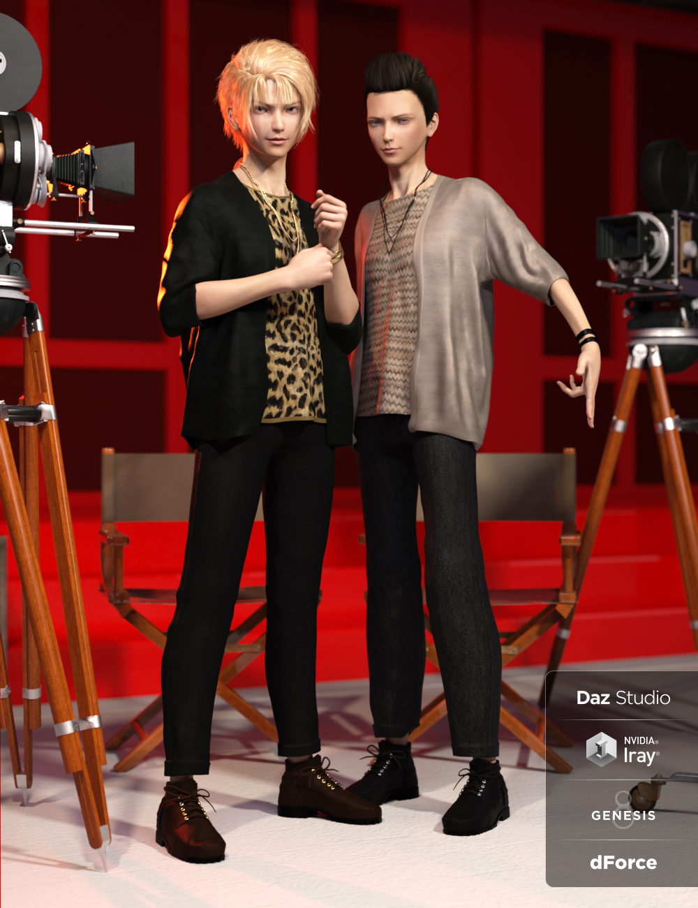dForce Pop Style Outfit Textures by: OziChick, 3D Models by Daz 3D