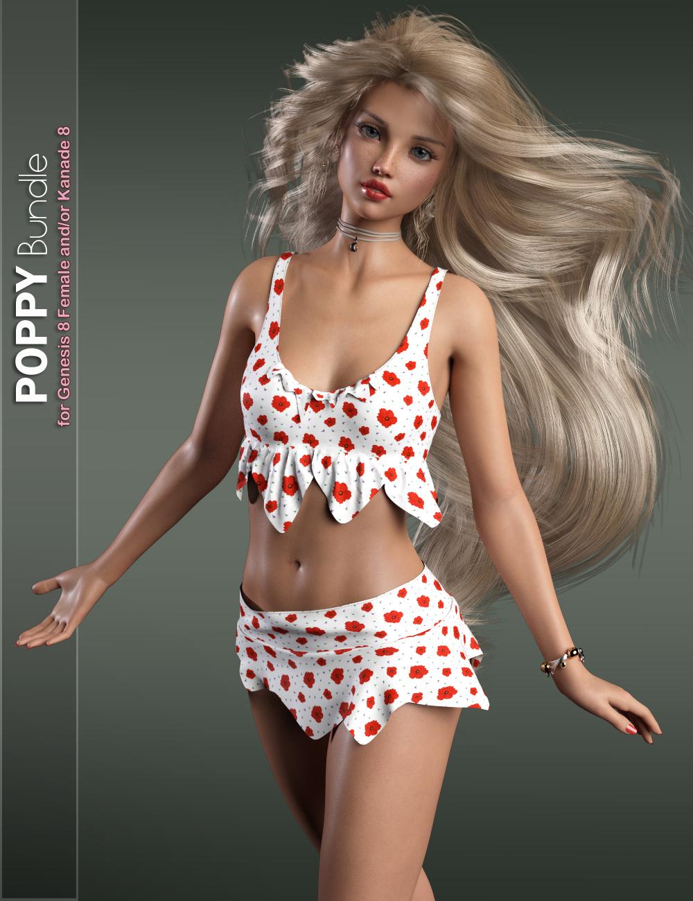 Poppy Bundle by: P3DesignValery3Di3D_Lotus, 3D Models by Daz 3D