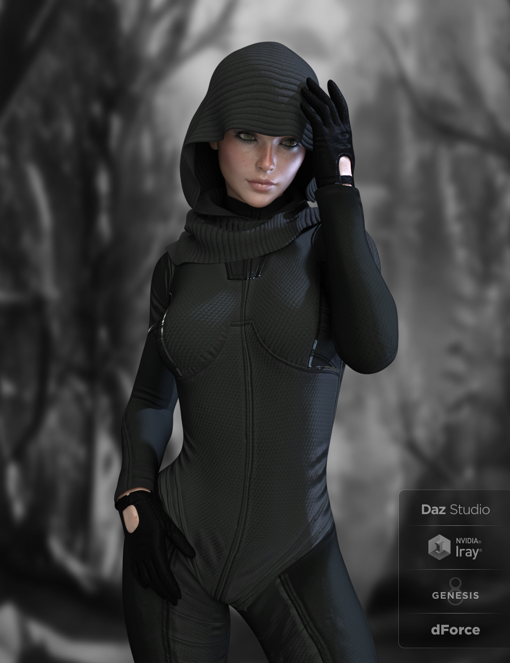 X-Fashion Tactical Outfit for Genesis 8 Female(s) by: xtrart-3d, 3D Models by Daz 3D