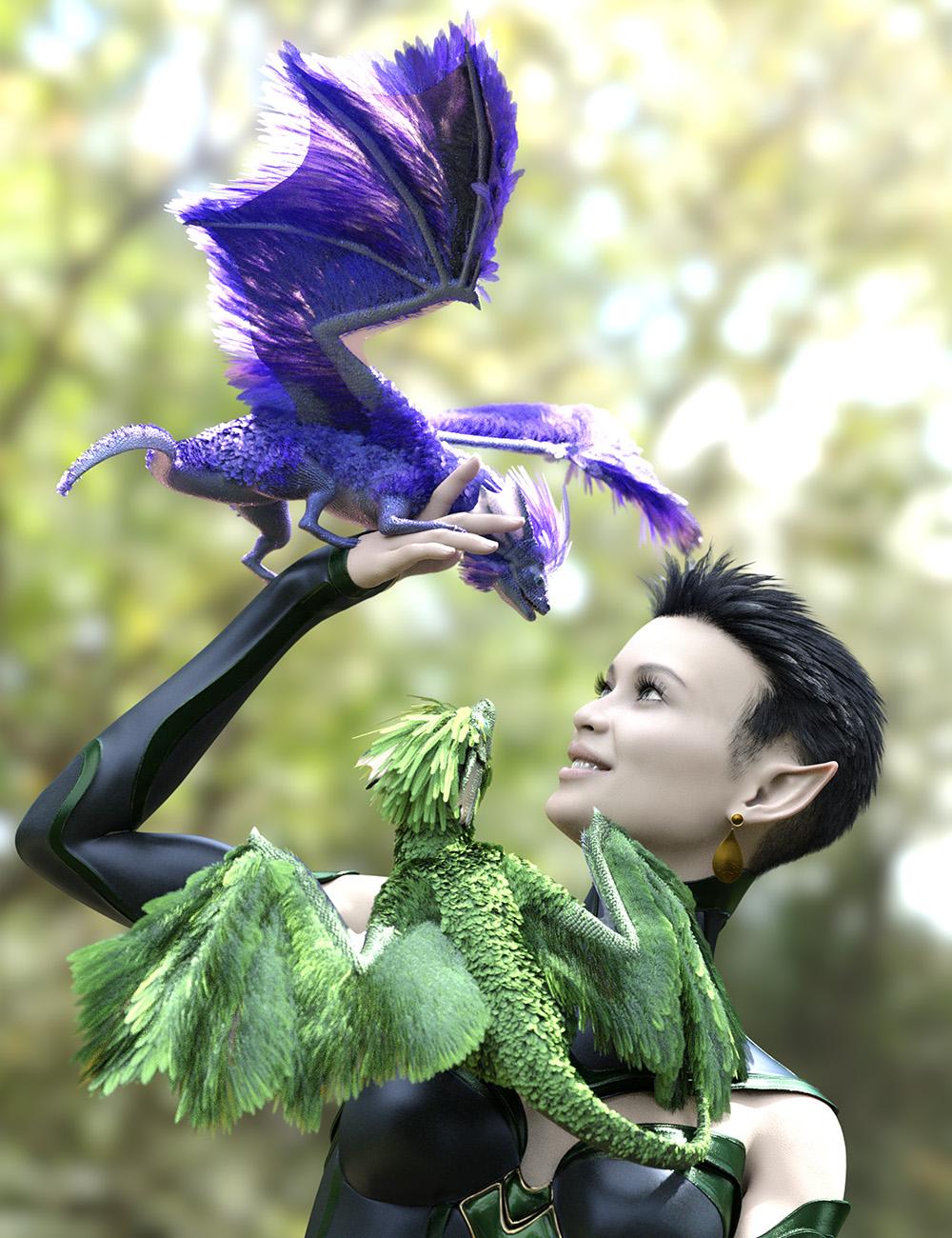 Oso Pixie Dragon for Daz Dragon 3 by: Oso3D, 3D Models by Daz 3D
