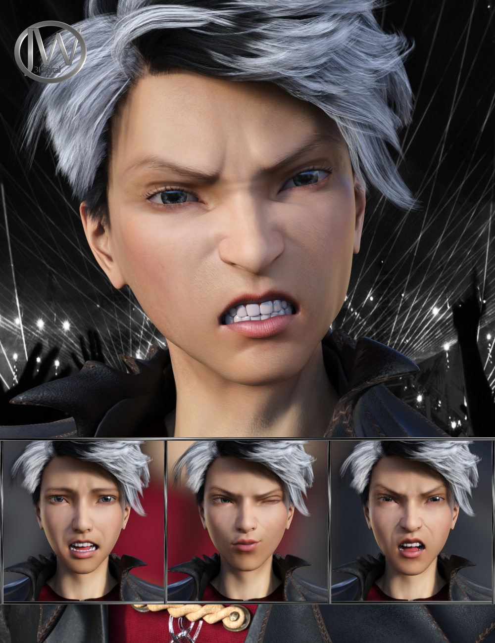 Pop Style - Expressions for Genesis 8 Male and Yuzuru 8 by: JWolf, 3D Models by Daz 3D