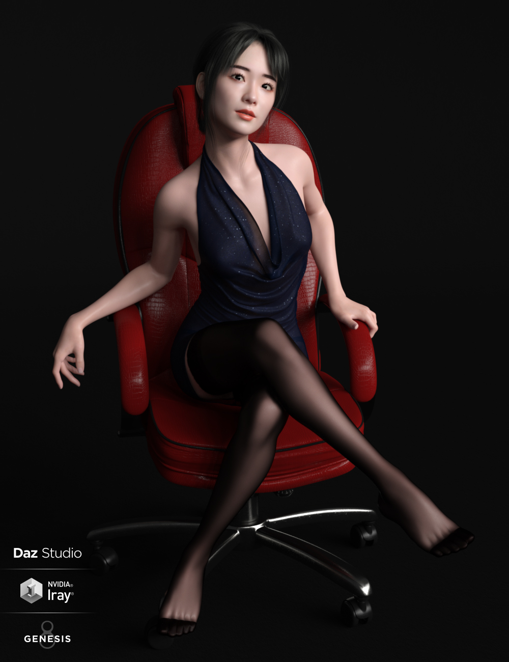 Xu Character And Hair for Genesis 8 Female by: Goanna, 3D Models by Daz 3D
