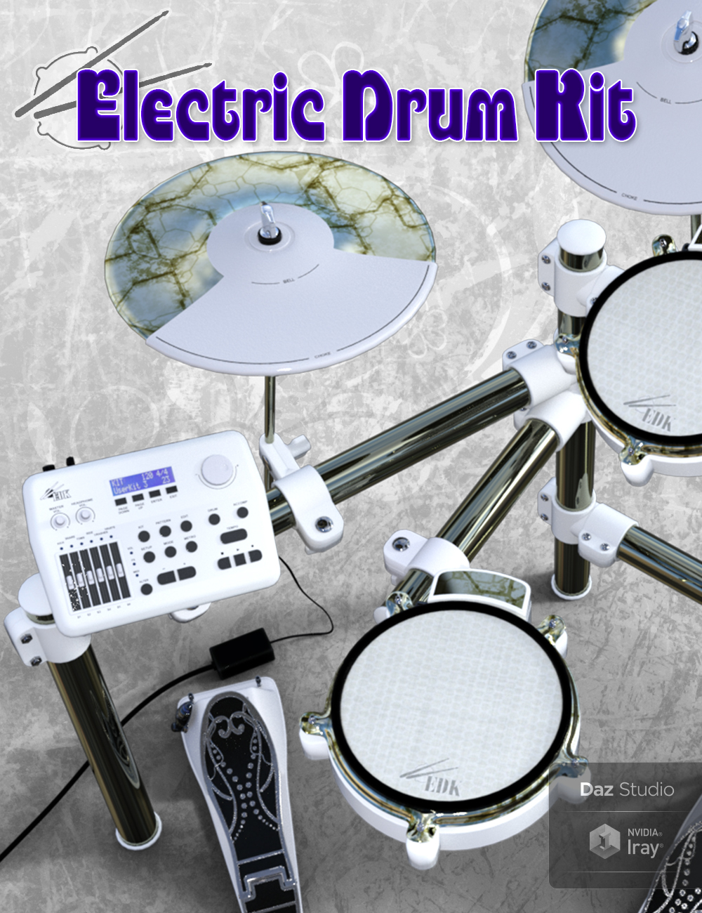 Electric Drum Kit by: Td3d, 3D Models by Daz 3D