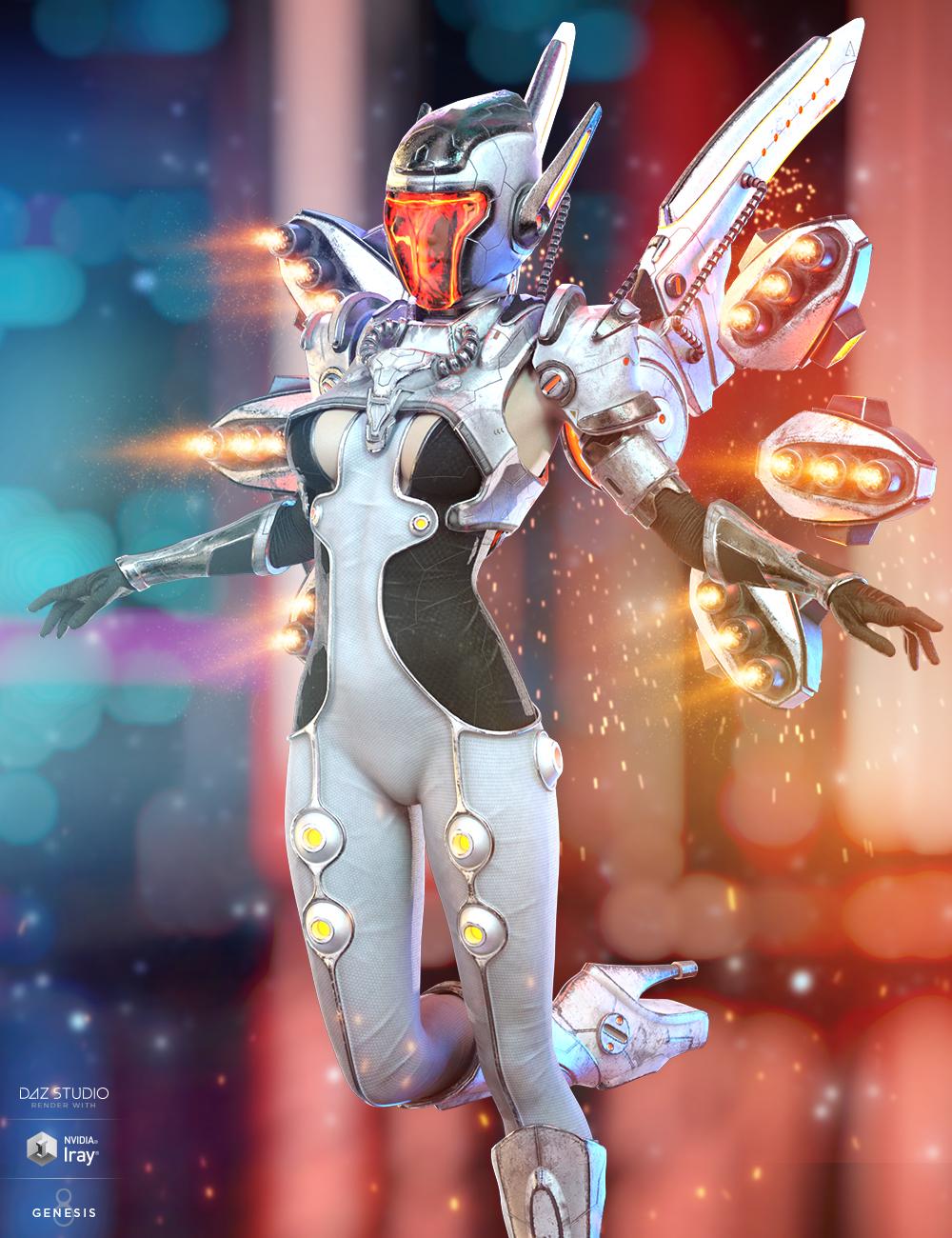 dForce Mech Dancer Outfit for Genesis 8 Female(s) by: HM, 3D Models by Daz 3D