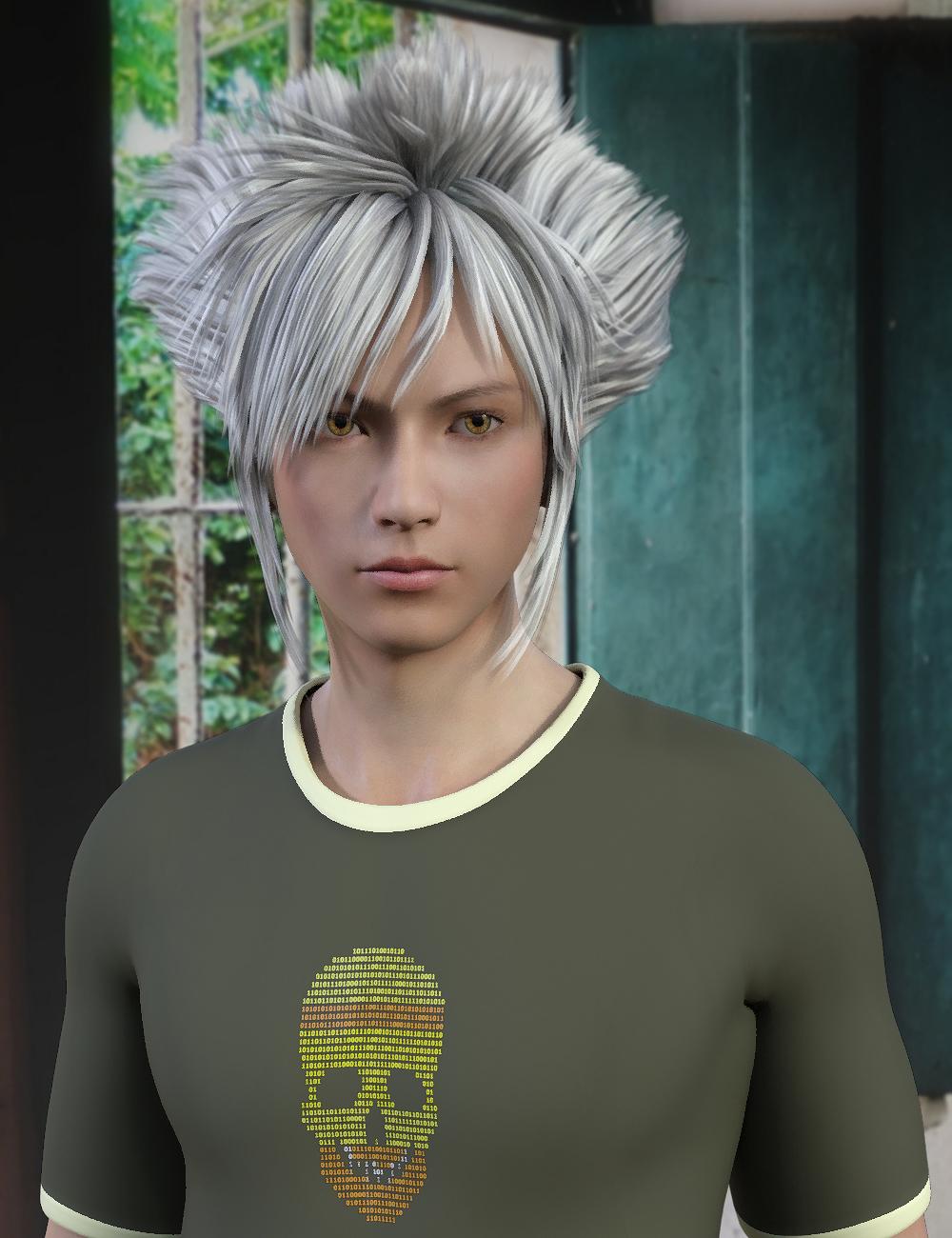 Hiraku Hair for Genesis 8 Male(s) by: Propschick, 3D Models by Daz 3D