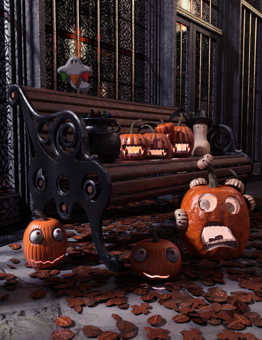 Halloween Whimsey Props by: ForbiddenWhispersDavid Brinnen, 3D Models by Daz 3D