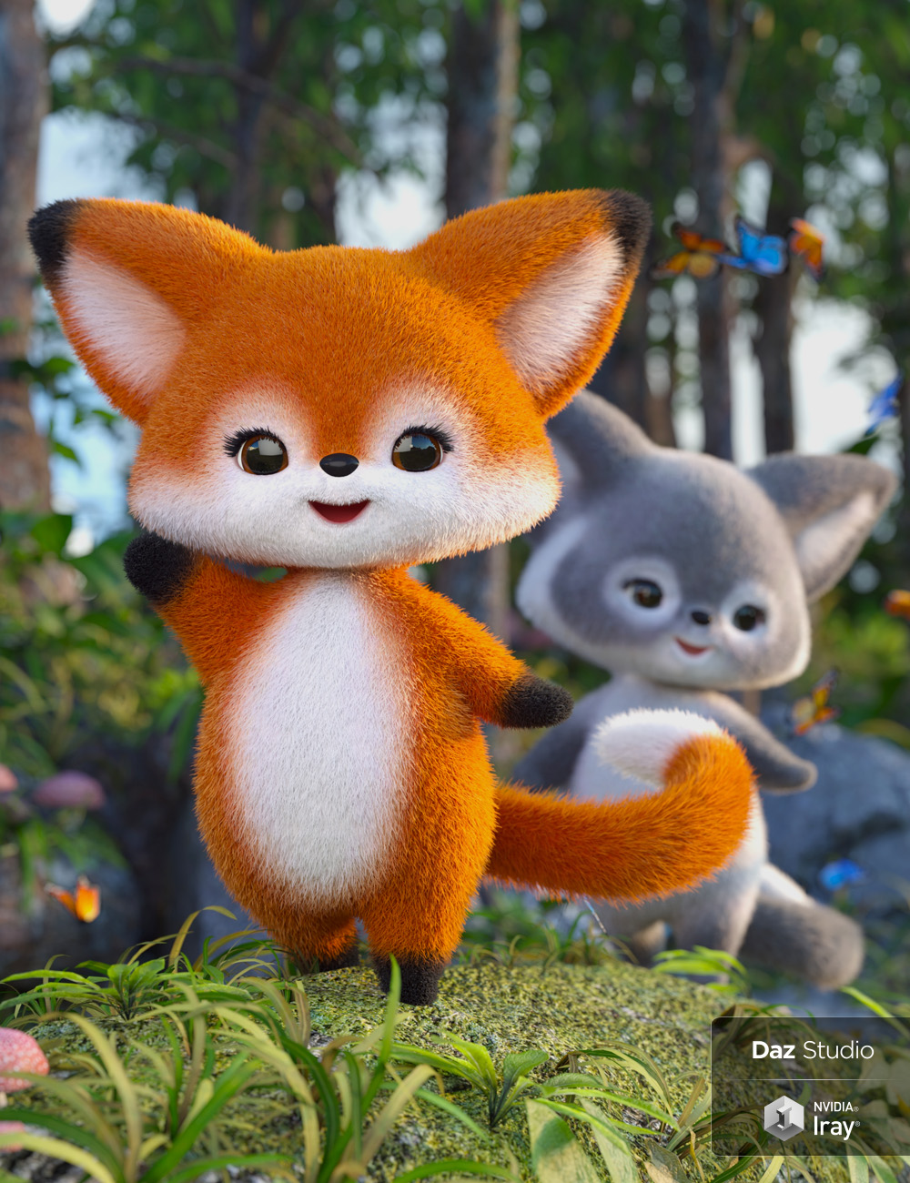 Scamp The Fox - Plushies 2.0 by: Lady Littlefox, 3D Models by Daz 3D