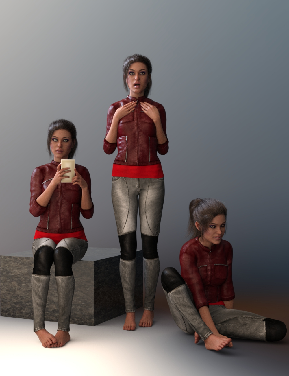 Inherent Spice Poses for Teen Raven 8 by: AliveSheCried, 3D Models by Daz 3D