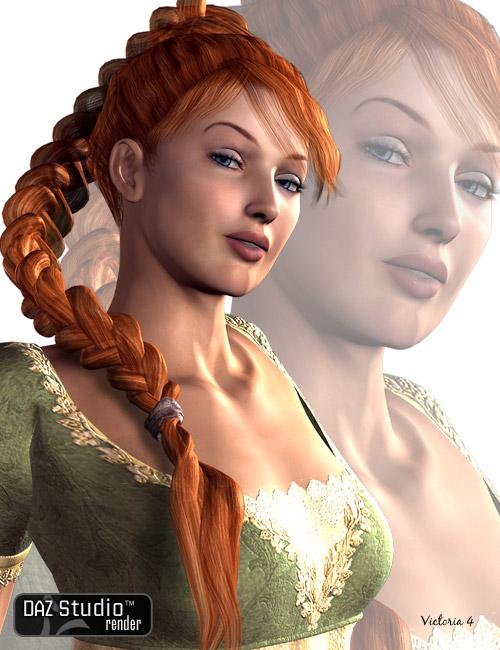 Vayne Braid by: AprilYSH, 3D Models by Daz 3D