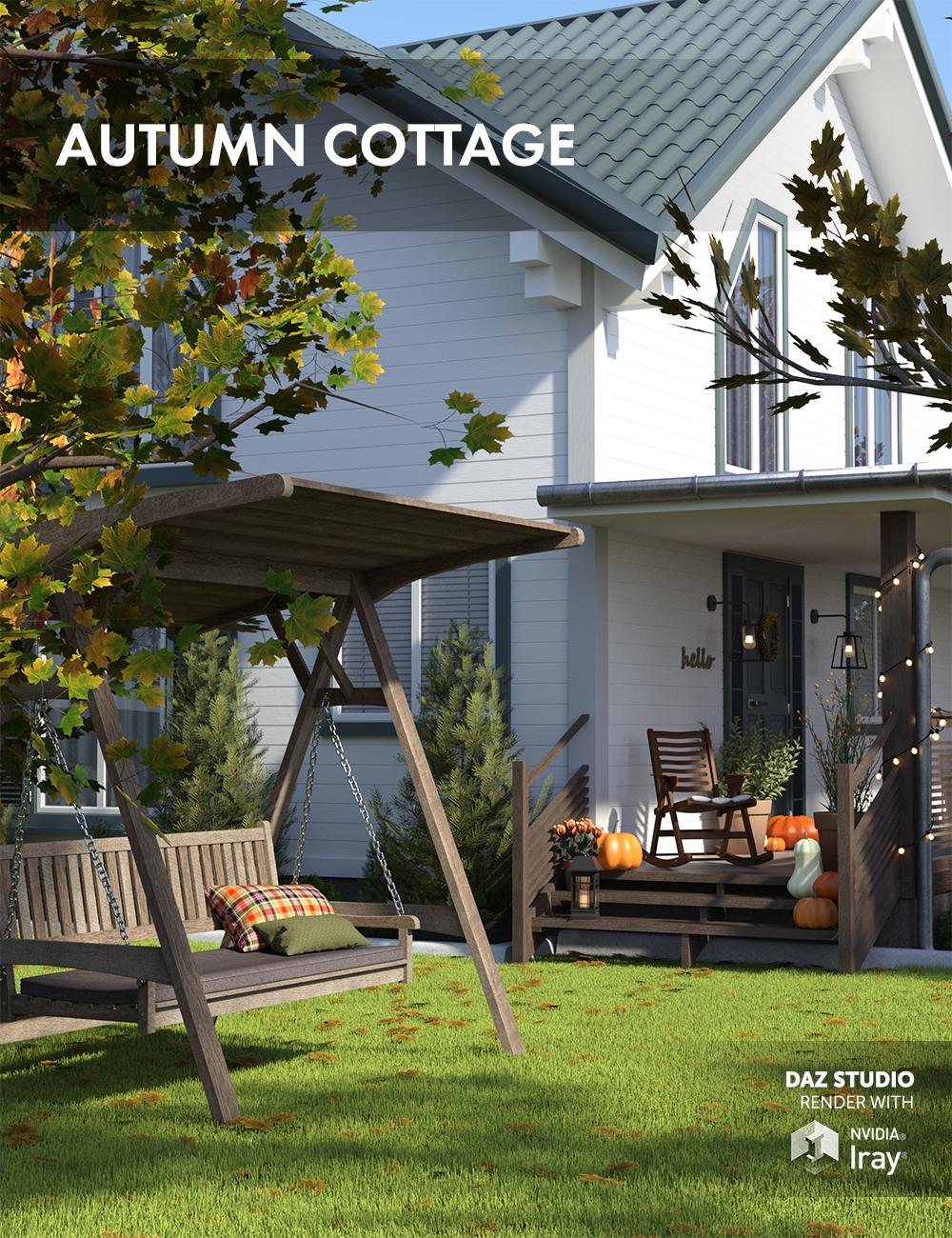 Autumn Cottage by: Dimidrol, 3D Models by Daz 3D