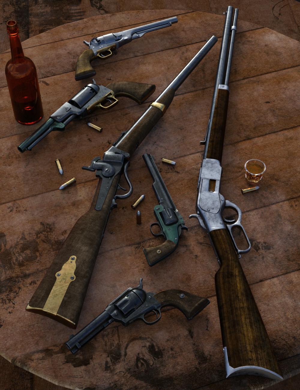 Old West Firearms Vol 1 by: DzFire, 3D Models by Daz 3D