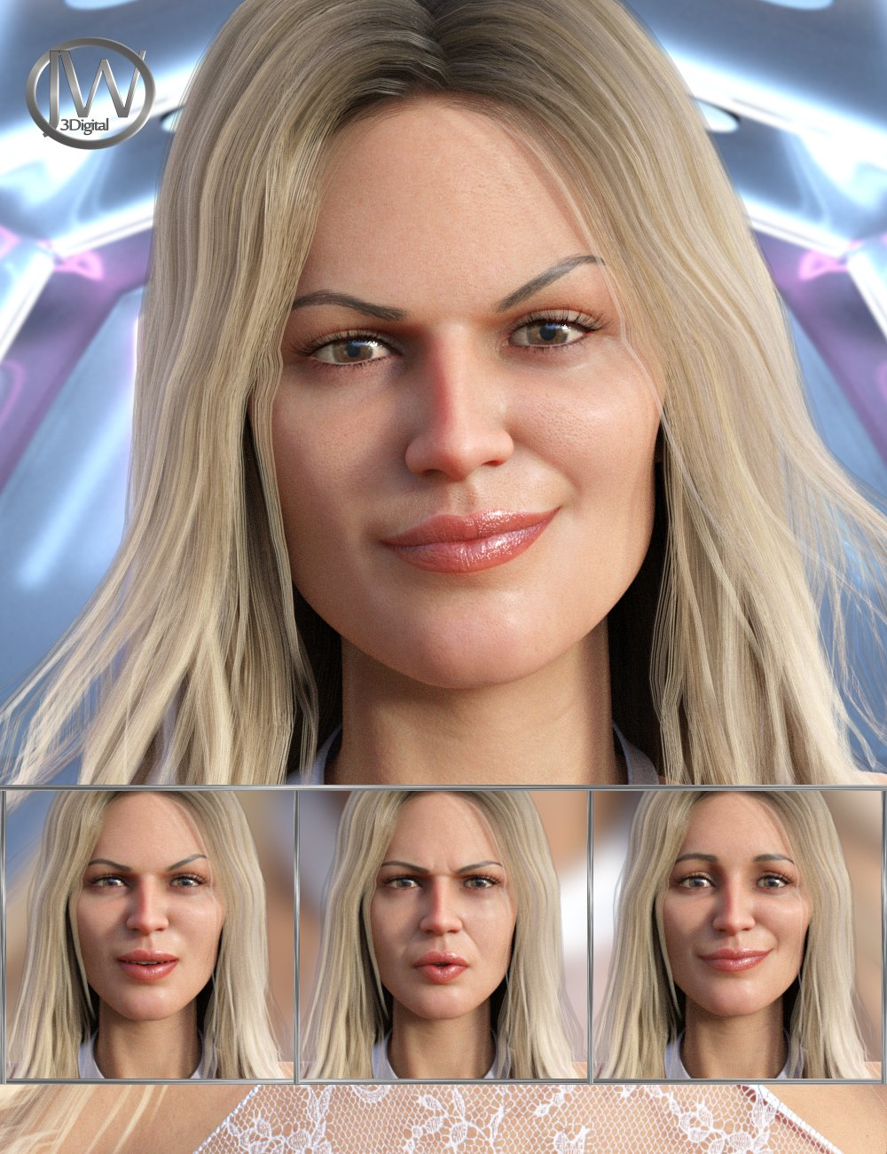 Supermodel - Expressions for Genesis 8 Female and Leisa 8 by: JWolf, 3D Models by Daz 3D