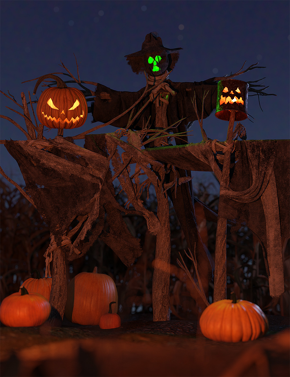 Orestes dForce Wicked Scarecrows by: Orestes Graphics, 3D Models by Daz 3D