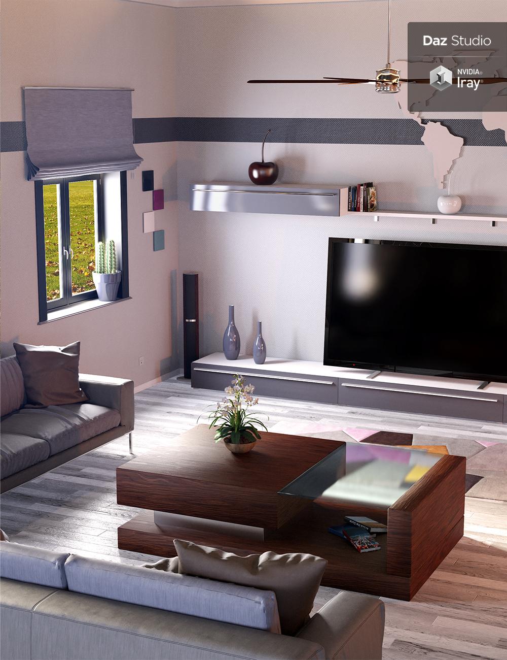 Modern Appartment by: PrefoX, 3D Models by Daz 3D