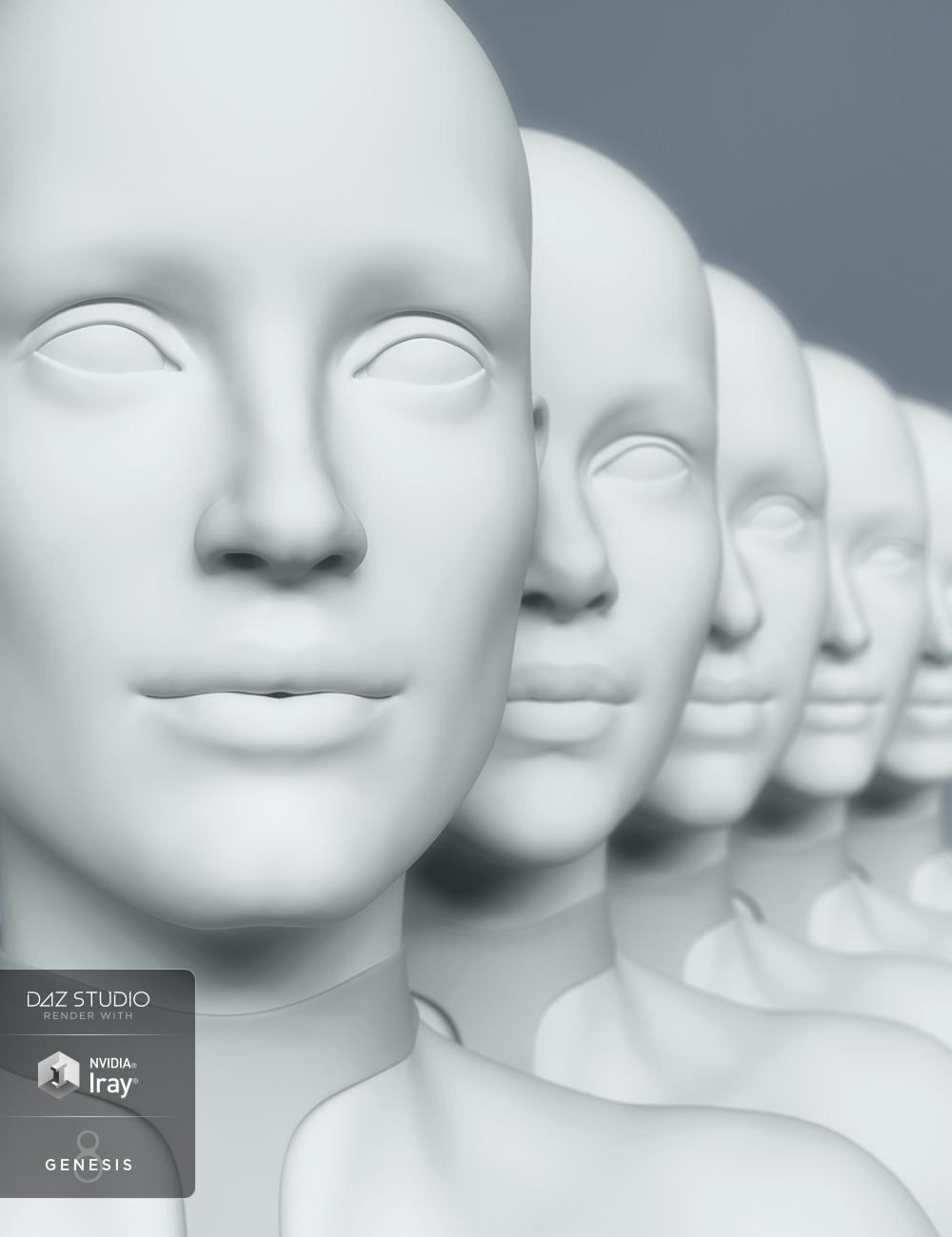 HD Head Morphs for Genesis 8 Female by: , 3D Models by Daz 3D
