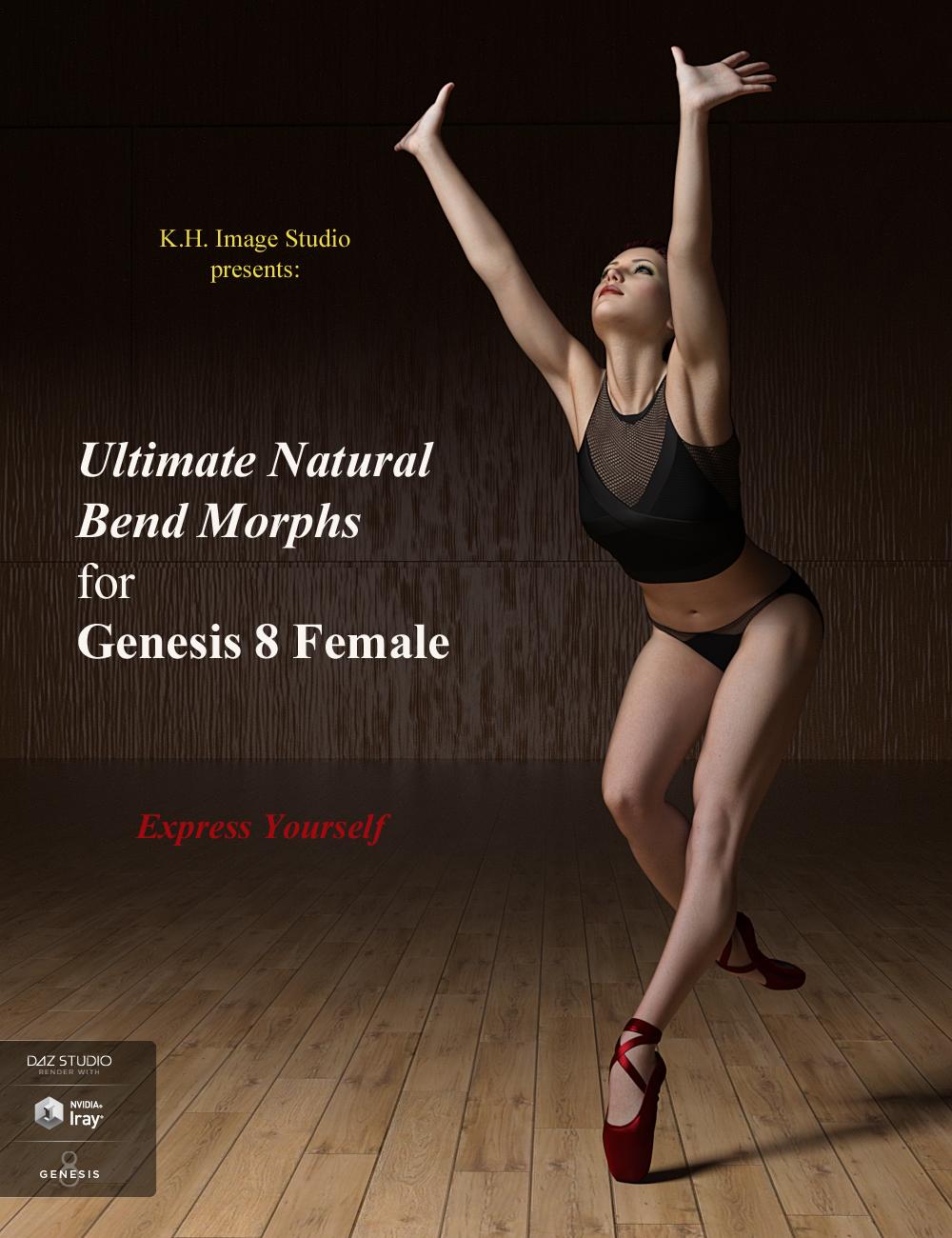 Ultimate Natural Bend Morphs for Genesis 8 Female by: K.H. Image Studio, 3D Models by Daz 3D