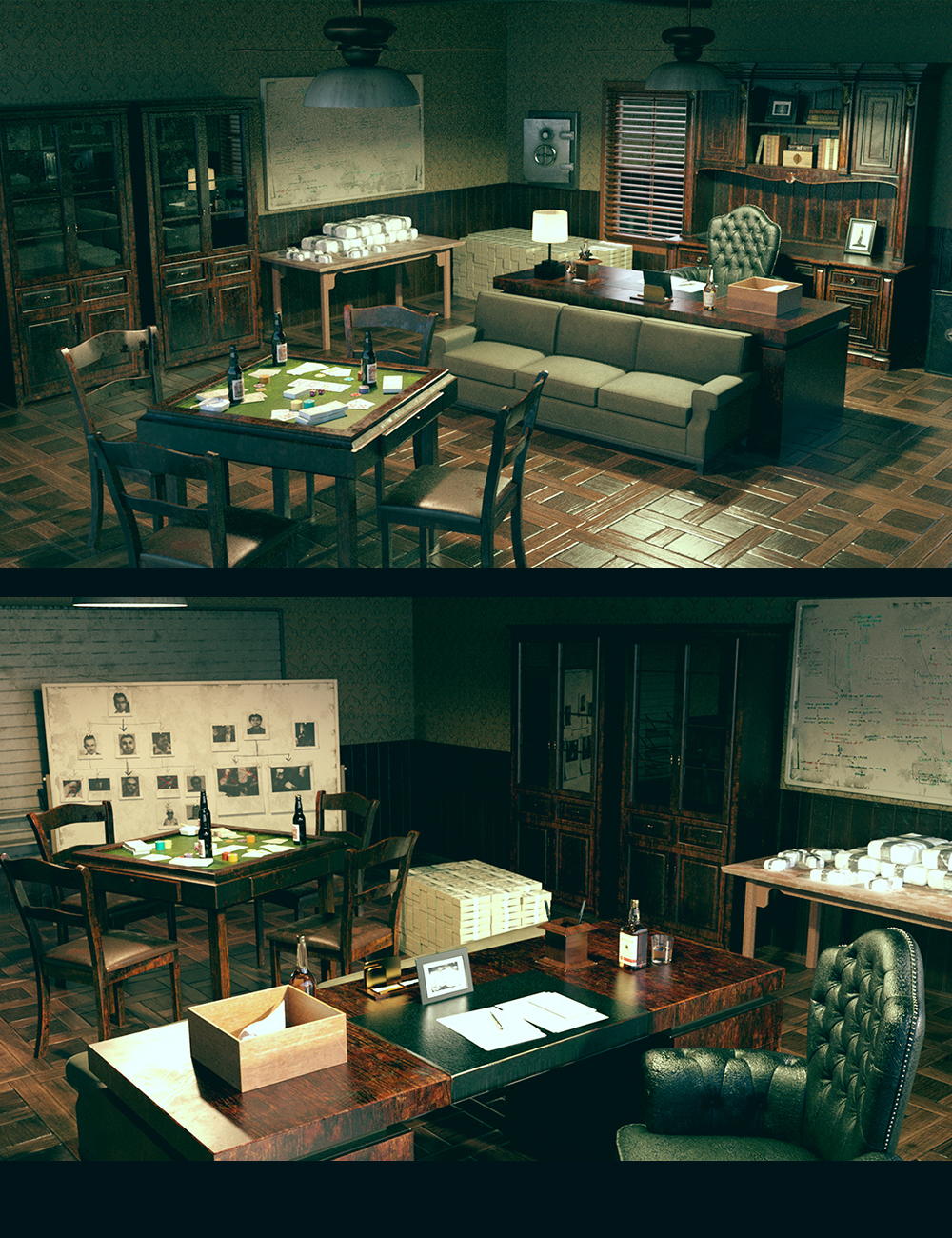 Mafia Boss Office by: Polish, 3D Models by Daz 3D