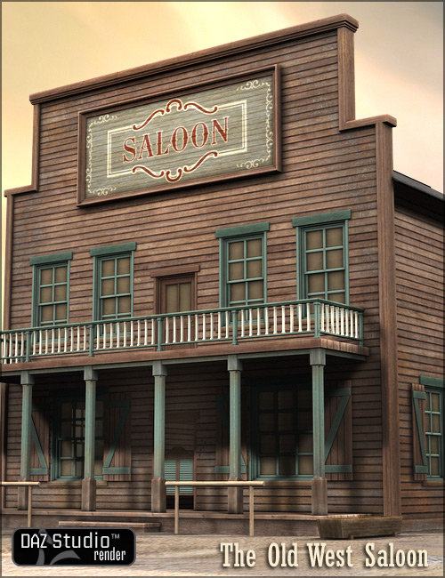 Old West Saloon by: , 3D Models by Daz 3D
