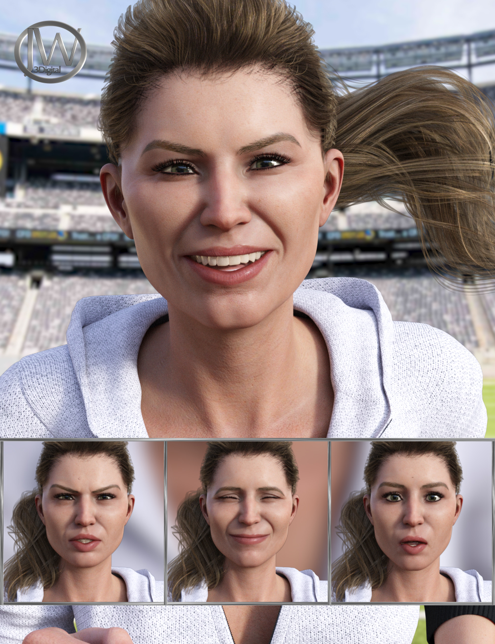 Athletic Life - Expressions for Genesis 8 Female and Jenni 8 by: JWolf, 3D Models by Daz 3D