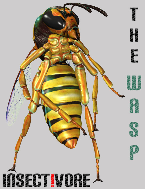 Insect-I-Vore 'The Wasp' by: noggin, 3D Models by Daz 3D