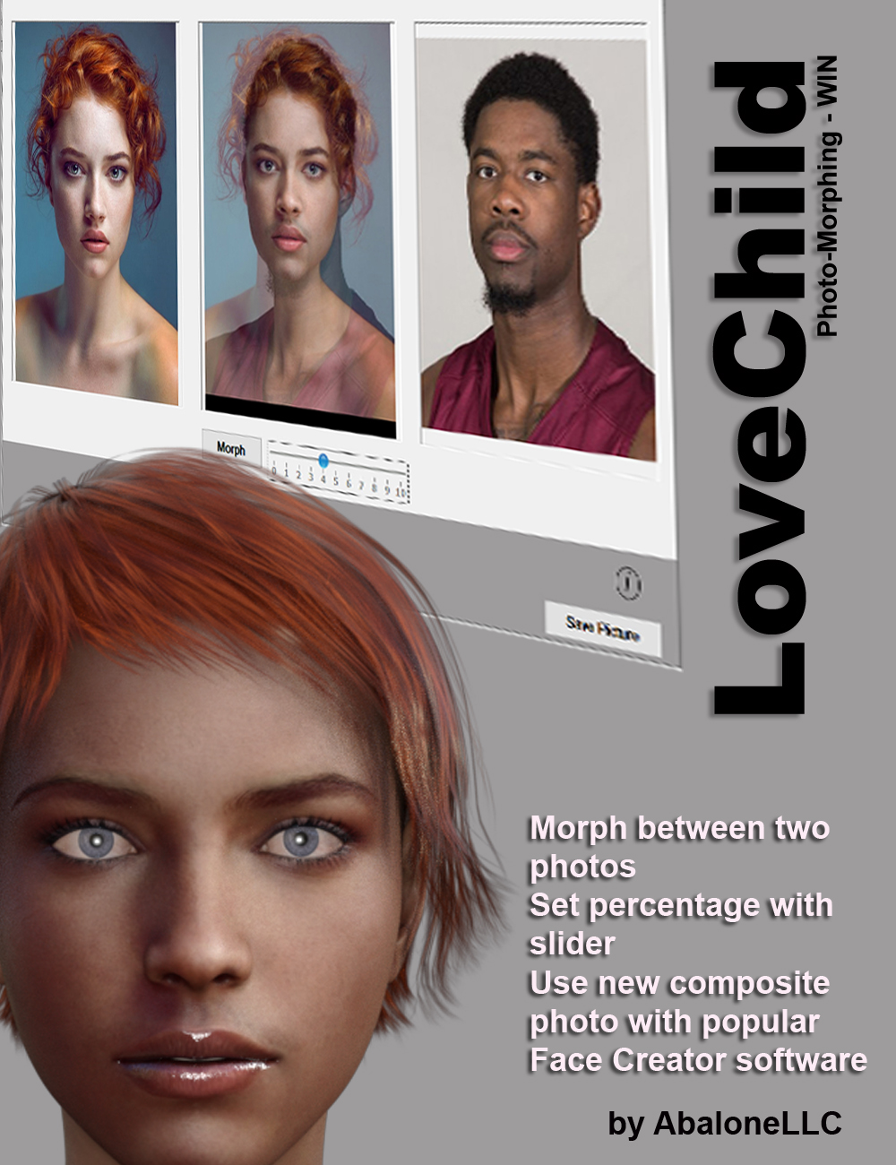 LoveChild - Photo Morphing Software by: Abalone LLC, 3D Models by Daz 3D