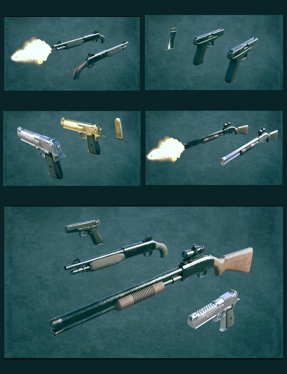Gangster Weapons 01 by: Polish, 3D Models by Daz 3D