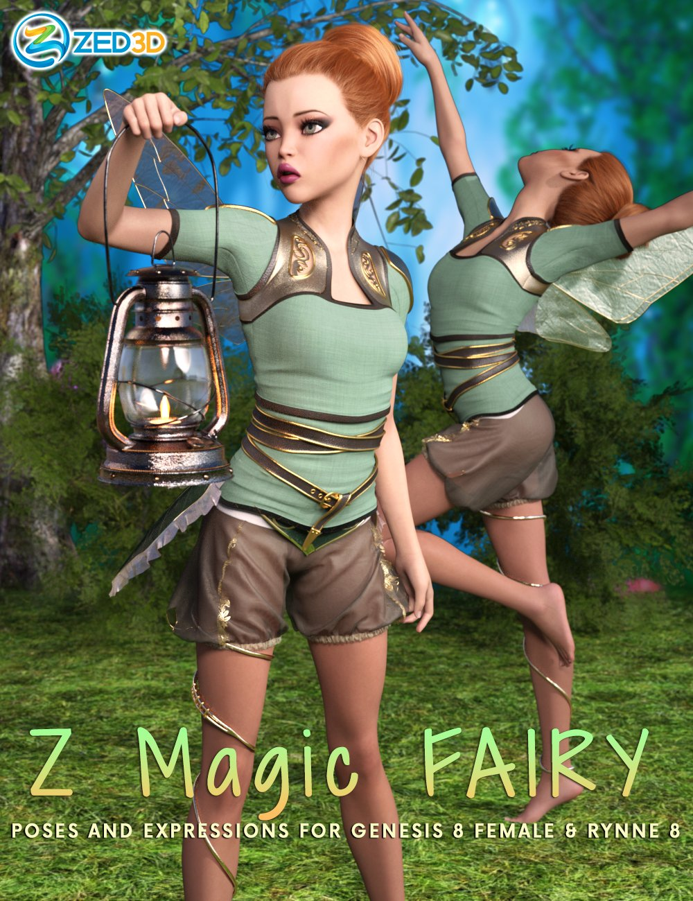 Z Magic Fairy Poses and Expressions for Rynne 8 by: Zeddicuss, 3D Models by Daz 3D