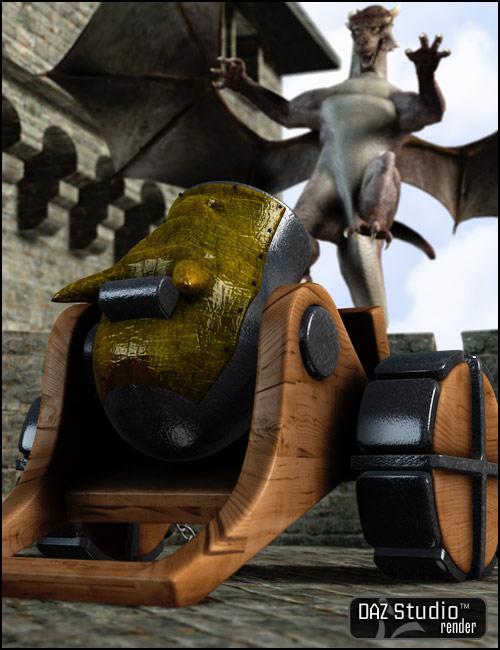 Dragon Mortar by: Valandar, 3D Models by Daz 3D