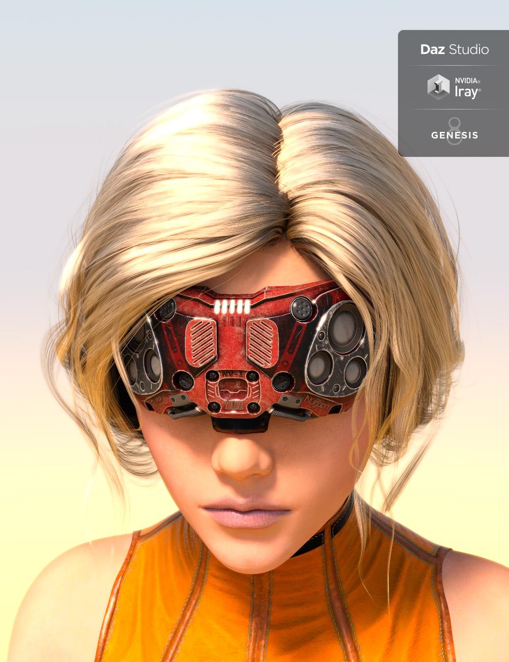 Nugoori Goggles for Genesis 8 by: chungdan, 3D Models by Daz 3D